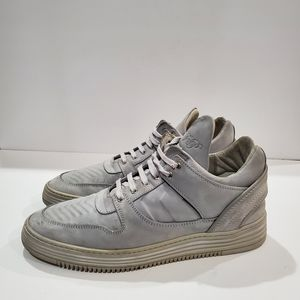 Filling pieces high quality leather sneakers 43